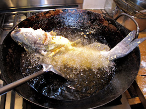 Photo: the first fish frying