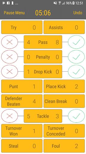 Rugby StatKeeper 1.7 screenshots 2