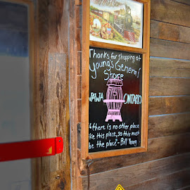 by Lena Arkell - Artistic Objects Signs ( rustic, sign, store, moose,  )
