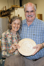 Photo: ...of this wonderful carved basswood plate received as a gift for his 30th Wedding Anniversary from Margaret Follas.