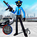Police Stickman Rope Hero Gangstar Crime Mafia icon