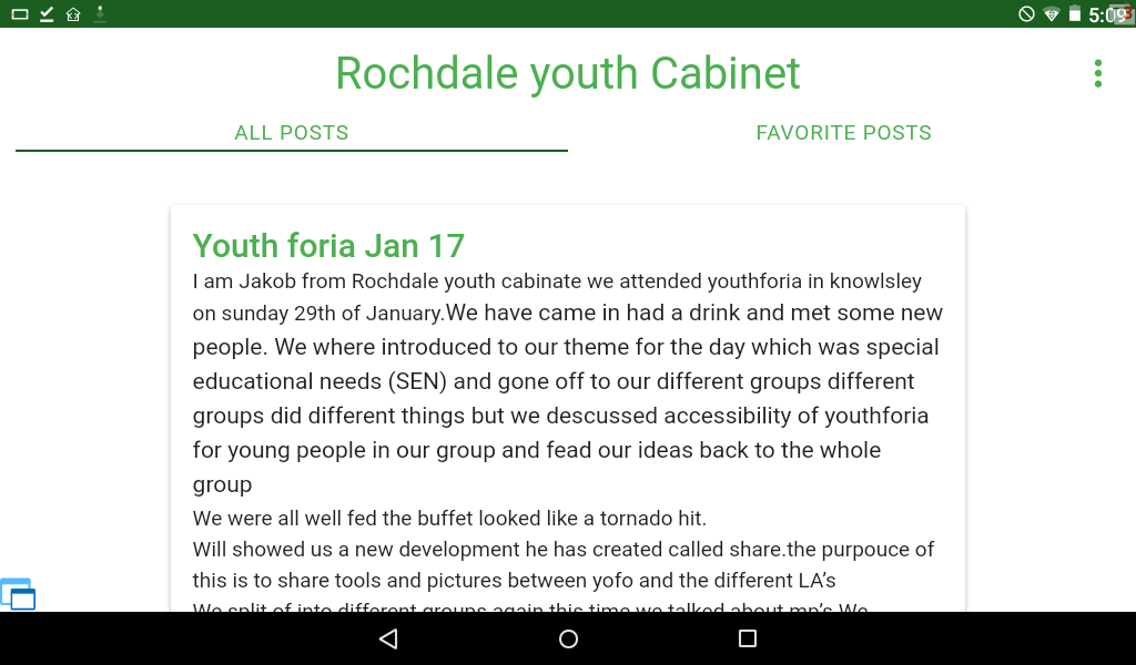 Rochdale youth Voice- screenshot