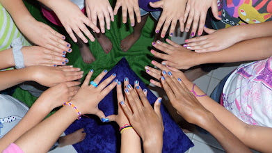 Photo: Pretty Manicure  at the Spa Party by http://www.BestPartyPlanner.net