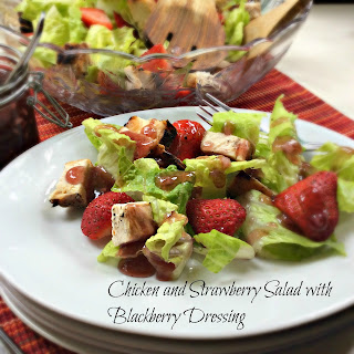 Chicken and Strawberry Salad with Blackberry Dressing