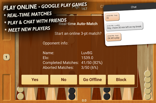 Backgammon NJ Online 1.2 screenshots 3