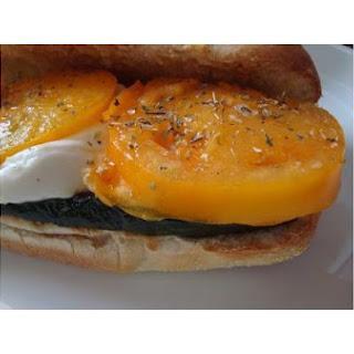 Grilled Zucchini Tomato Mozzarella Sandwich