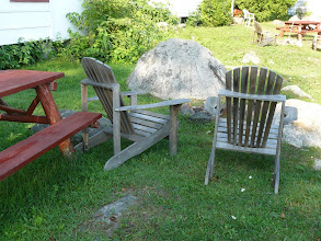 Photo: bonfire pit and picnic table