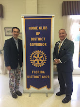 Photo: Marshall Butler, District Governor for Rotary Year 2016-2017 and Brent Coates, District Governor for Rotary Year 2017-2018
