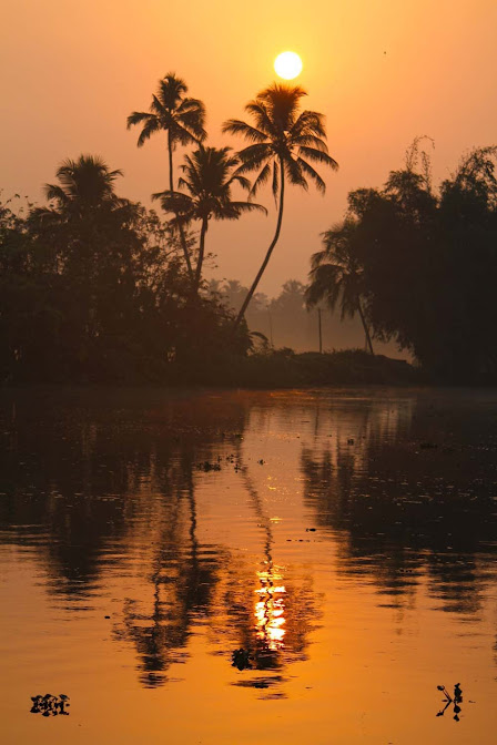 sunset and sunrise photos kerala