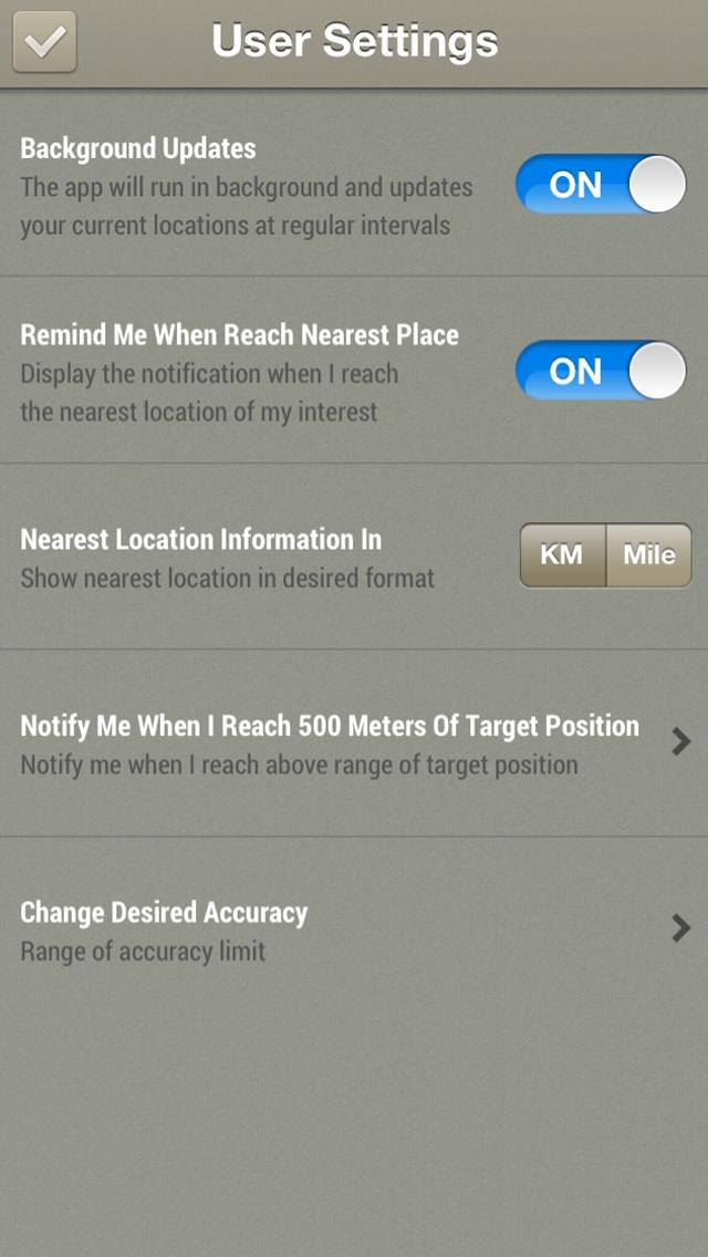 Скриншот GPS Check List