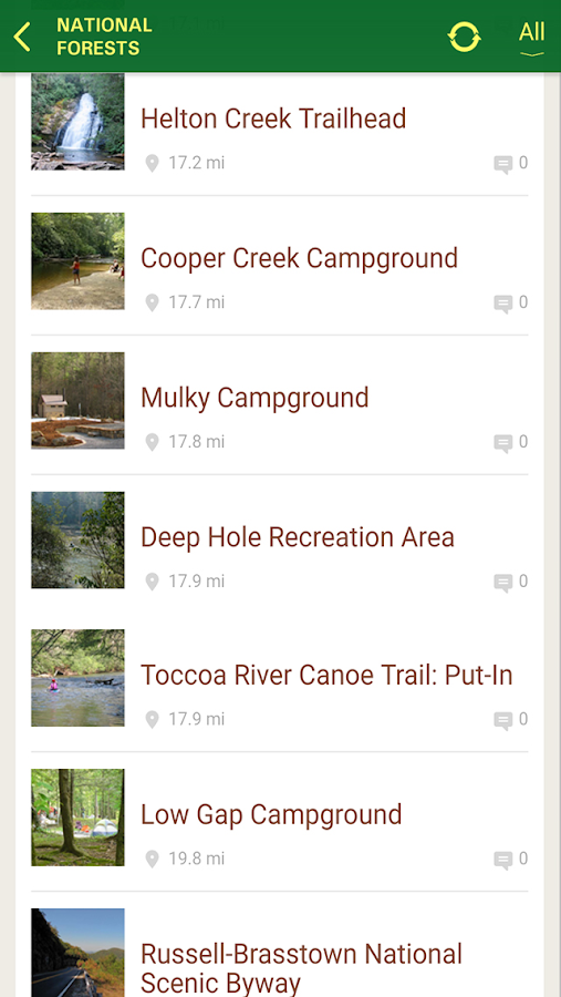 Chattahoochee-Oconee Forests- screenshot
