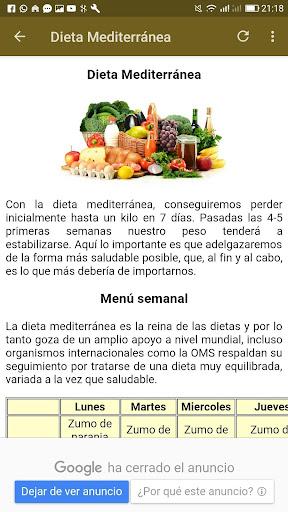 dietas adelgazar screenshot 3