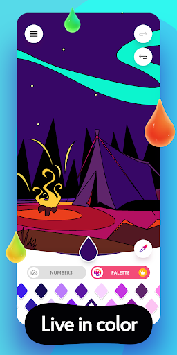 Colorain: Paint by Numbers or use Coloring Palette  screenshots 6
