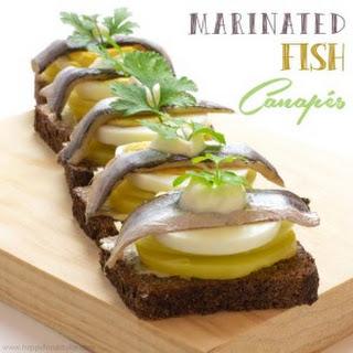 Marinated Fish Canapés.