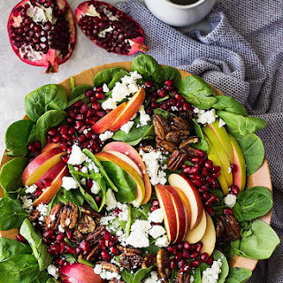 Spinach, Apple, and Pomegranate Salad.