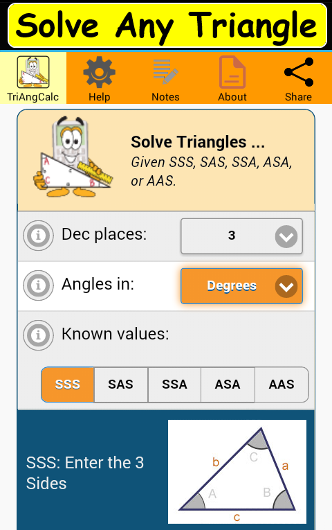 Triangle Calculator Solver- screenshot