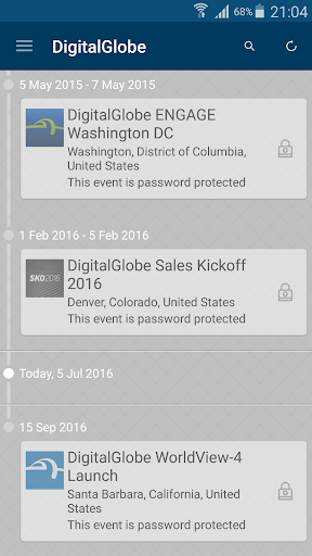 DigitalGlobe Event App