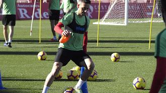 David Rocha entrenando en el Mediterráneo.