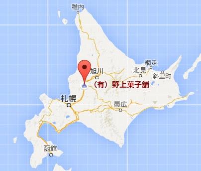 地図:野上菓子舗