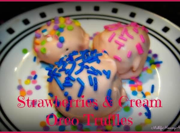 Strawberries & Cream Oreo Truffles
