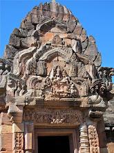 Photo: carved detail above main entrance into Prasat Hin Phanom Rung