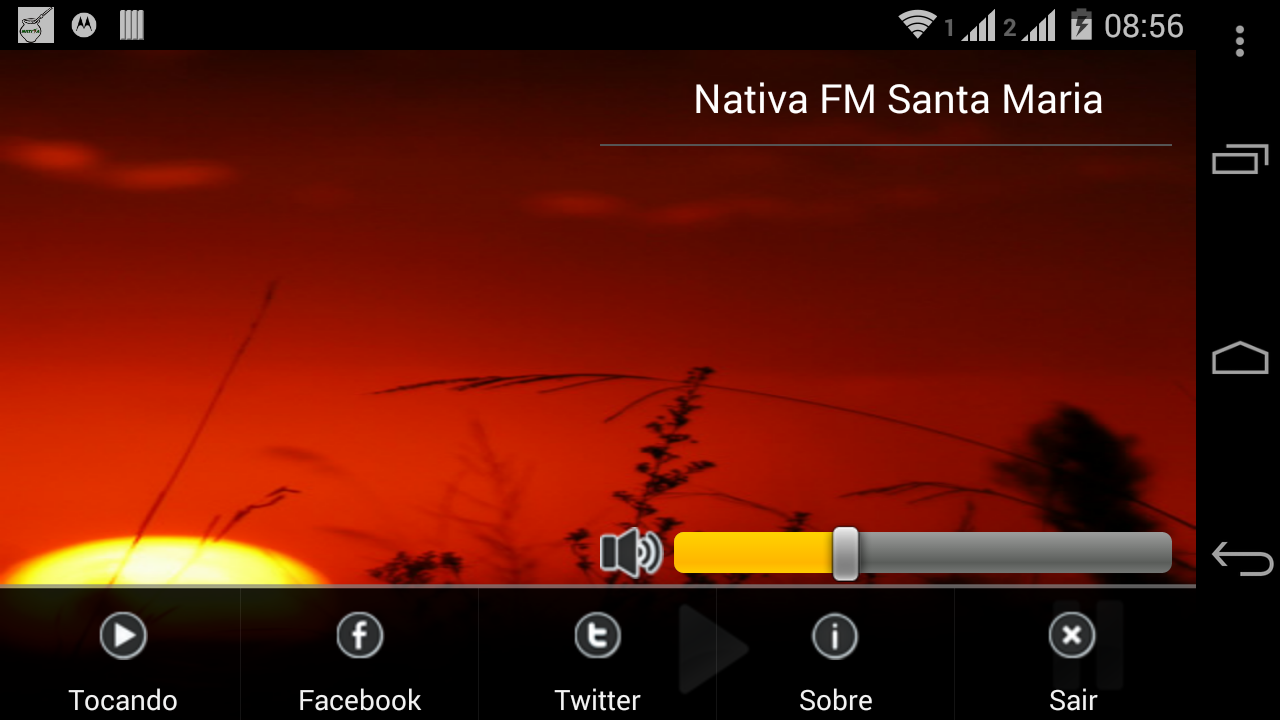 Rádio Nativa FM Santa Maria/RS - screenshot