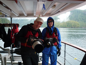 Photo: What I really like about this trip, is I can bring all my camera gear.  I used the 300 mm lens in the zodiac, and a 200 mm lens in the kayak.  The rain covers came in quite handy.  Photo by Ben.