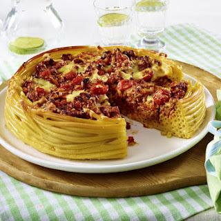 Macaroni Bolognese Pie.
