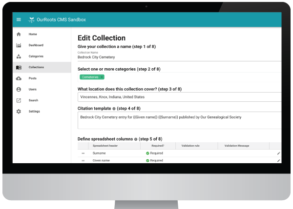 Easily create and manage family history databases