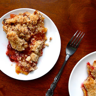 Peach-Raspberry Pie with Pecan Crumble