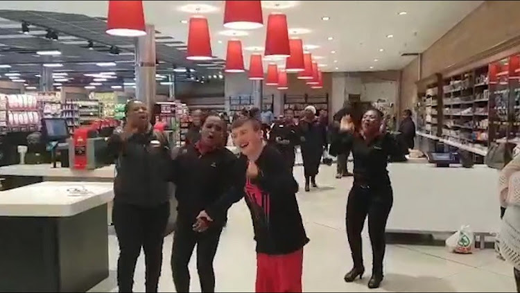 A video of the team joining in song and dance with Brett' who is unable to speak' has gone viral on Facebook.