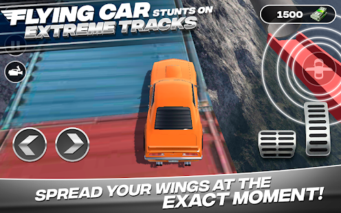 Flying Car Stunts On Extreme Tracks Screenshot