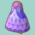 むらさきのぶとうかいのドレス