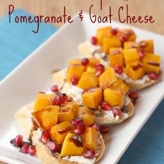 Butternut Squash, Pomegranate & Goat Cheese Crostini