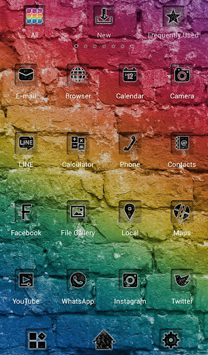 Colorful Bricks +HOME Theme 1.0.0 Windows u7528 3