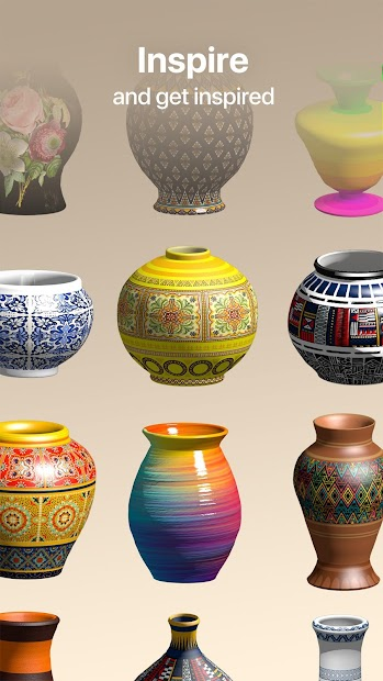 Pottery.ly 3D– Relaxing Ceramic Maker Android App Screenshot