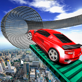Stunt Car GT Racing Game-Impossible Rooftop Tracks