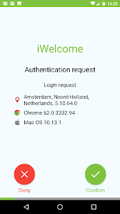 iWelcome Authenticator - náhled