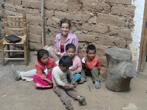 Photo: playing with the local children at Hualcayan during a day off.