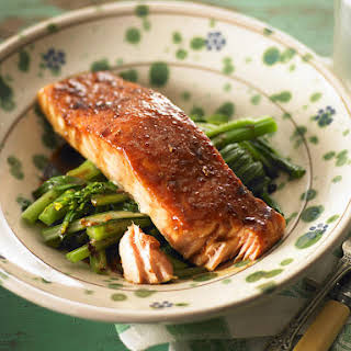 Slow-Roasted Salmon with Broccolini.
