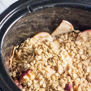 Slow Cooker Apple-Peach Crumble.