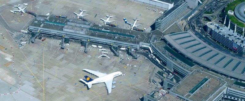 Airport Düsseldorf von oben.