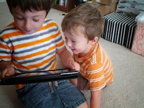 Photo: Happy Brothers with iPad
