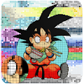 Colorear Goku Pixel By Number Art