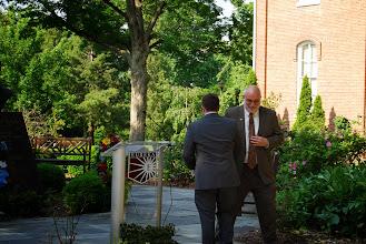 Photo: Eureka College President J. David Arnold introduces guest speaker Dr. James Cooper at the Reagan Memorial 2013