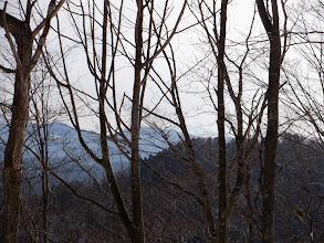 後方に高い山が見える(中央右)