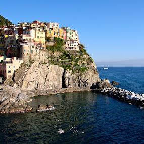 Riomaggiore by Cristiana Chivarria - Landscapes Mountains & Hills ( mediterranean sea, riomaggiore, italy )