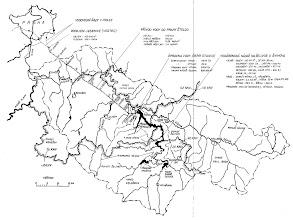 Photo: Mapa tunelu přivaděče Želivka.  Zdroj: Kniha Želivka tunelem do Prahy (1972) Jaroslav Mácha a kolektiv http://www.hornictvi.info/podzemi/zelivka/07.htm