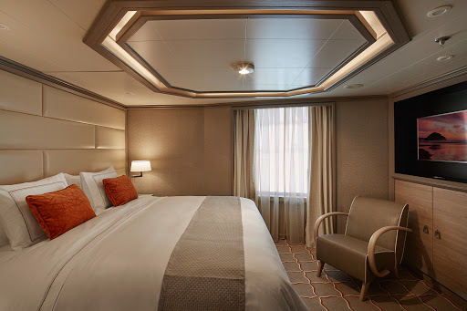 Relax and travel the world in the comfort of a Panorama Suite on Silver Muse.