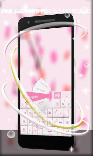 Pink Flowers For GO Keyboard for PC